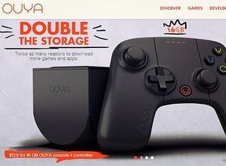 Ouya black matte console with double storage now available for $130