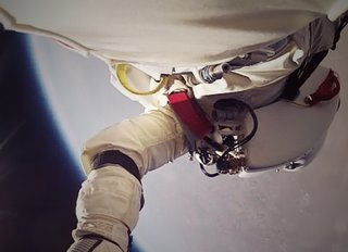 Watch Felix Baumgartner plummet to Earth from space in HD first-person view, thanks to GoPro Hero2 footage