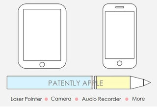 Apple iPen patents suggest projector, camera, laser and recorder modules