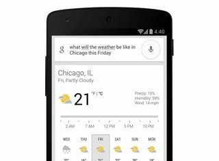 Ask Google's Search app if you need an umbrella to get the latest weather report