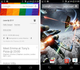 google search update enables ok google in uk and canada enhanced time to leave options image 2