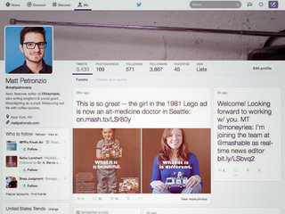 Twitter's website tests new redesign with Pinterest-like timeline