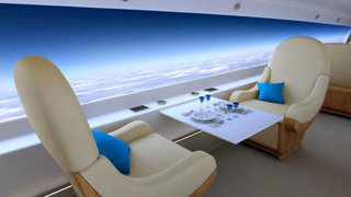Supersonic private jet to feature HD screen-walls instead of windows
