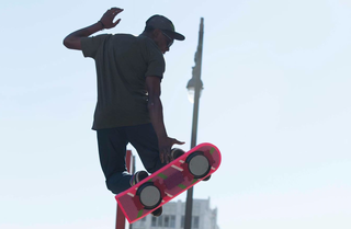 HUVr gives a 'real' hoverboard to Tony Hawk and Christopher 'Doc' Lloyd and films the results