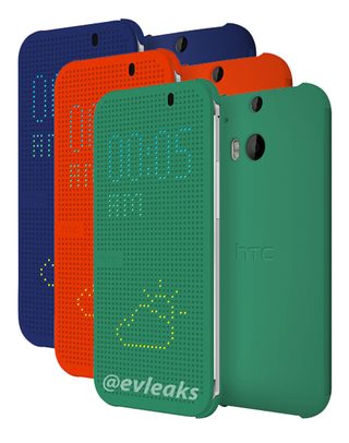 htc one m8 new hands on pictures leak further image of led smart cover too image 9