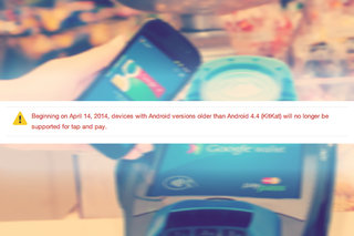 Google Wallet tap-and-pay feature will soon require Android 4.4 KitKat