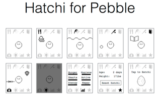 Tamagotchi-like game launches on Pebble smartwatch, flashback to 1990s