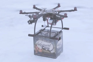 Beer delivered to the door by a drone hexacopter? Yes please