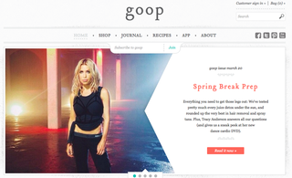 Website of the day: Goop