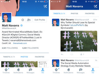 Twitter's iOS app tests new design, and it's similar to the profile changes tested for web