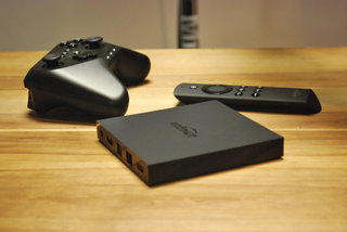 Amazon Fire TV streaming box and game controller pictures and hands-on