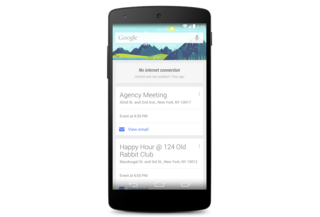 Google Now cards now stay loaded when the internet goes out
