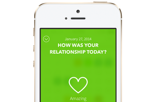 The Boyfriend Log gives colour-coded hints when you're in an unhealthy relationship
