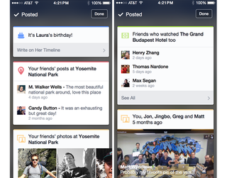 Facebook for iOS app tests new card feature with contextual content on some users