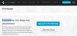 Website of the day: Delay Repay Sniper