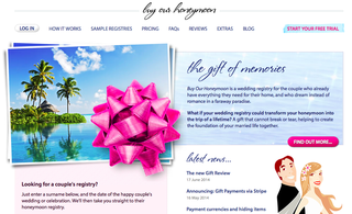 Website of the day: Buy Our Honeymoon