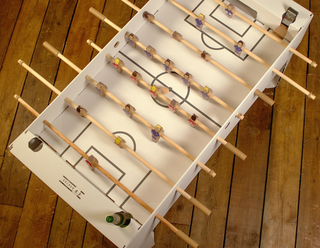 Is this the coolest thing ever? A flatpack foosball table made of cardboard