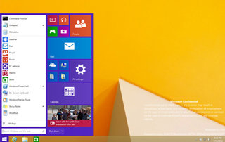 Leaked Windows 9 Threshold build shows the Start menu is back