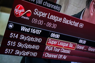 Sky Sports 3, 4 and F1 HD channels arrive on Virgin Media as it reshuffles EPG to cope