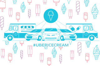 Uber lets you order an ice cream van to your location all day Friday 18 July