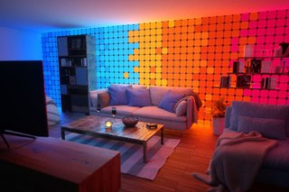 The stunning Nanoleaf Canvas turns a wall into light