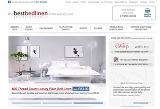 Website of the day: The Best Bed Linen in the World
