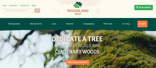 Website of the day: Woodland Trust - Dedicate a Tree