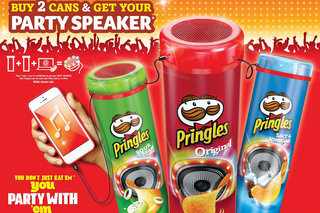 Pringles giving away free packet-top speakers that deliver 'crisp' sound