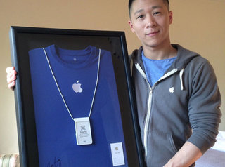 Best Apple employee name ever? Sam Sung... and now you can buy his business card