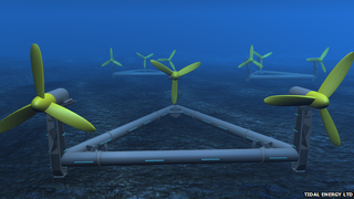 Sea turbine unveiled to use tide as power for thousands of UK homes