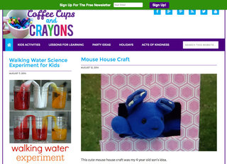 Website of the day: Coffee Cups and Crayons