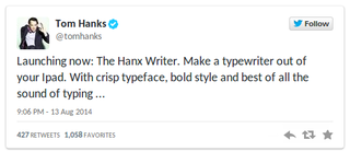 typewriter collector and actor tom hanks releases typewriter app for ipad update  image 3
