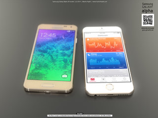 iPhone 6 vs Samsung Galaxy Alpha in render showdown, concept pics aplenty