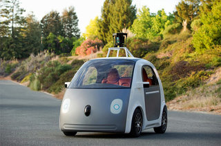 Google's driverless car with no steering wheel or brakes is now forced to offer manual controls