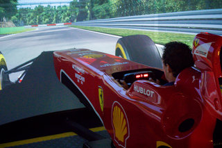 how not to drive an f1 car hands on with the 500k shell pro ferrari f1 simulator image 4