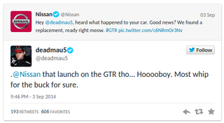 nissan to the rescue car maker gifts nyan cat gtr to deadmau5 after ferrari fall out image 5