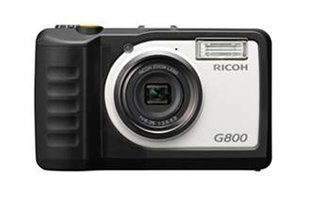 Ricoh G800 is resistant to chemicals, dust, impact and water