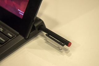 hands on lenovo thinkpad helix shows off fingerprint scanner slimmer design variety of keyboard docks image 3