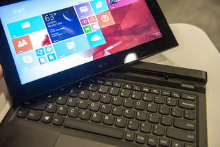 hands on lenovo thinkpad helix shows off fingerprint scanner slimmer design variety of keyboard docks image 5