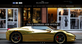 Website of the day: The Billionaire Shop