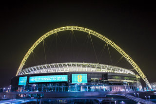 Wembley Stadium arch turned into giant Hue-style mood lighting system that'll react to goals