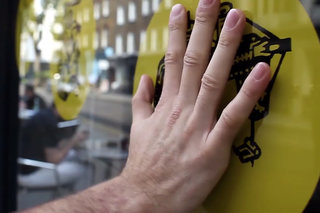 Bare Conductive Paint turns shop window into touchscreen (update)