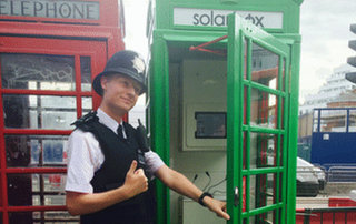Classic London phone boxes are back and going green, to solar charge your phone