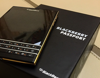 New BlackBerry Passport leak shows the flagship dressed in gold