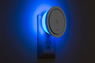 What if your smoke alarm goes off but you're not there? The Leeo Smart Alert Nightlight will text your phone