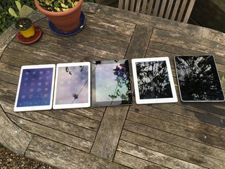 Apple iPad family photo: Just how skinny is the iPad Air 2?