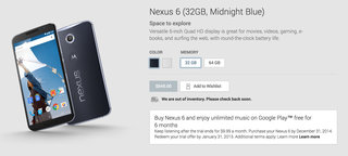 you can now pre order google nexus 6 or not sells out within minutes  image 3