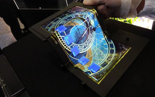 Is that a Salvador Dali? No it's an 8.7-inch folding Super AMOLED screen