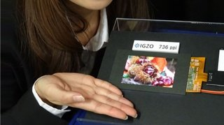 The 4K smartphone screen is here, 736ppi LCD shown off by Sharp