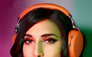 From this photo you'll never guess who's the new face of Parrot Zik 2.0 headphones